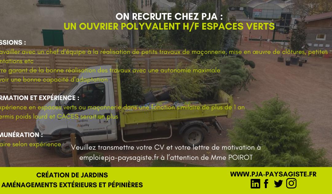 Offre d'emploi : Ouvrier polyvalent H/F Espaces Verts CDI 35H