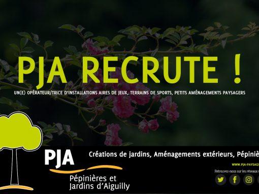 PJA recrute un opérateur (H/F) d'installations aires de jeux, terrains de sports, petits aménagements paysagers